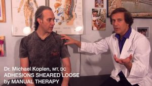 Dr. Koplen, DC, with Patient-Physicians Using Soft Tissue Therapy & Chronic Muscle Tension and Pain - Muscle Pain Relief and Stress Reduction and the cause for sore muscles